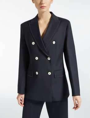 Blazer in lana e viscosa