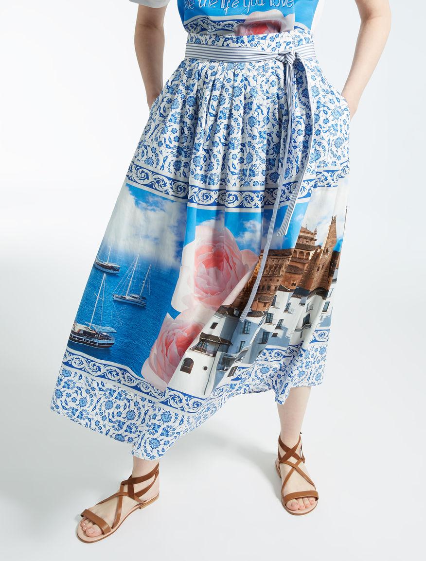 ピュア コットンポプリン スカート