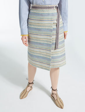 Cotton basketweave skirt