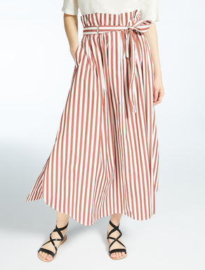 Cotton poplin skirt