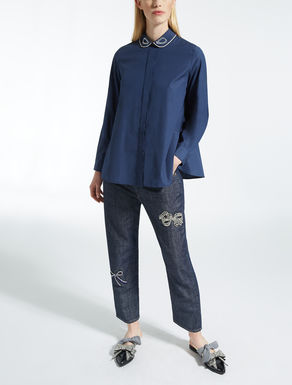 Bluse aus Baumwollpopeline