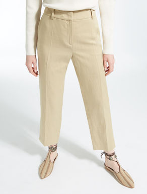 Lyocell, linen and cotton trousers
