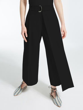 Technical crêpe trousers