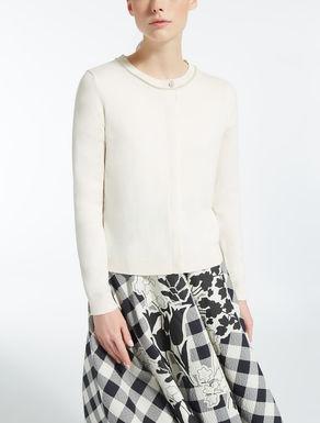 Silk and cotton cardigan