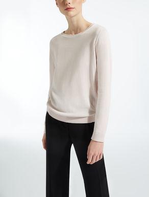 실크 코튼 혼방 스웨터
