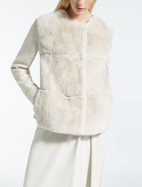 Manteau en fourrure de lapin