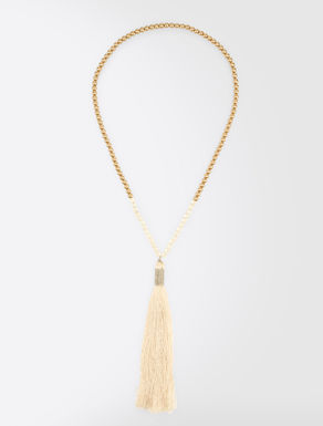 Long necklace with tassel