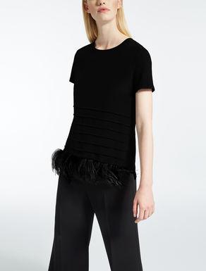 Silk and jersey T-shirt