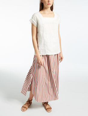 Camiseta de jersey de algodón y lino