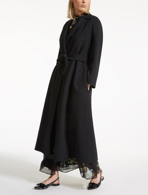 Wool, silk and cashmere coat