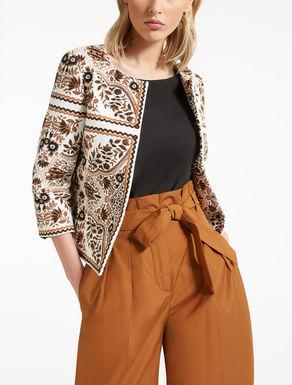 Boxy jacquard jacket