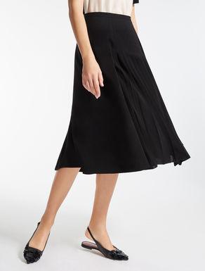 トリアセテート キャディフレア スカート