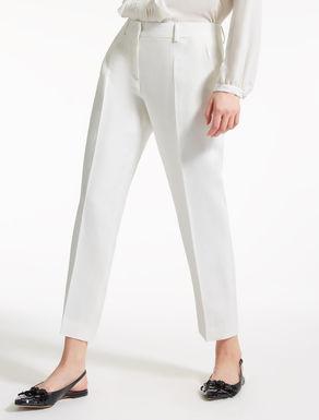 Pantaloni in twill di lino e viscosa