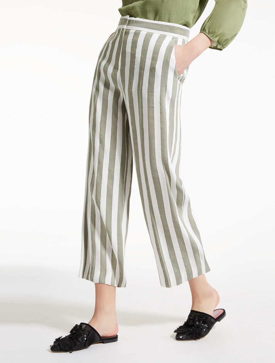 Linen and viscose trousers