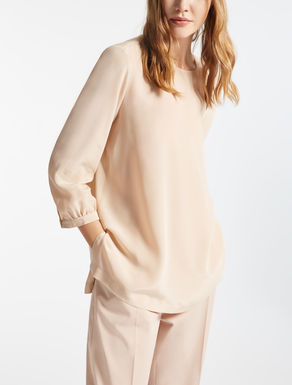 Blusa in crêpe de Chine