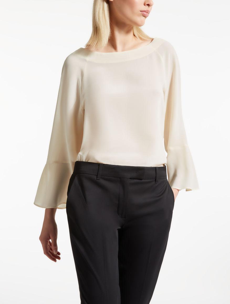 Blusa crepé de China de seda