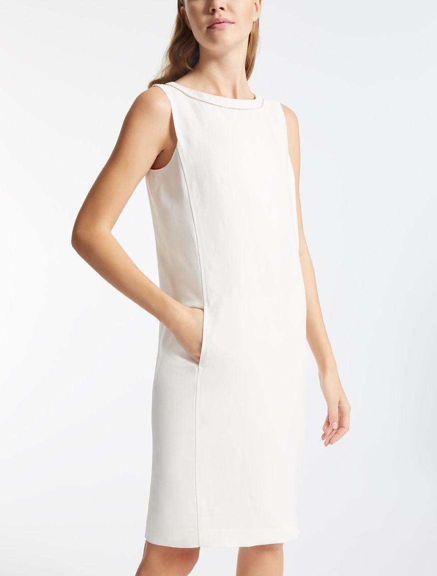 ビスコース リネンスリーブレス ドレス