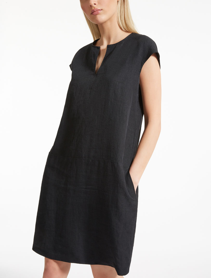 Ramie and linen dress