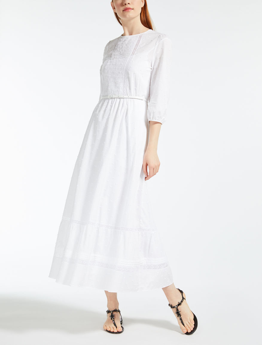 Cotton plumetis dress