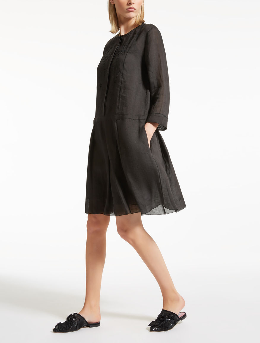 Vestido de gasa de ramio