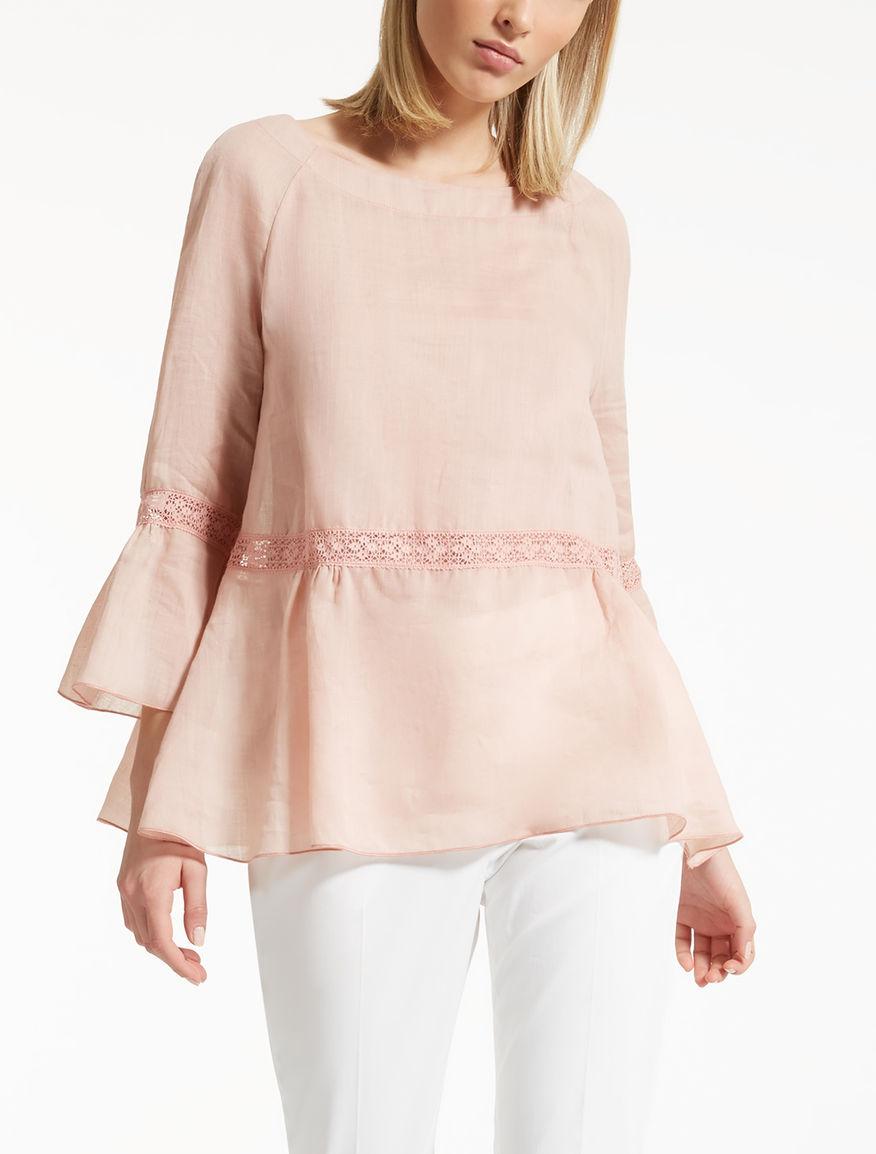 Ramie gauze blouse