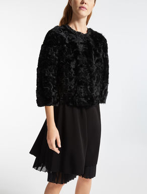 Boxy fur jacket