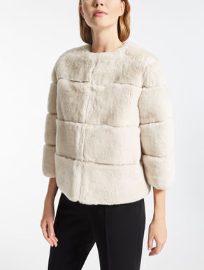 Short rabbit fur jacket