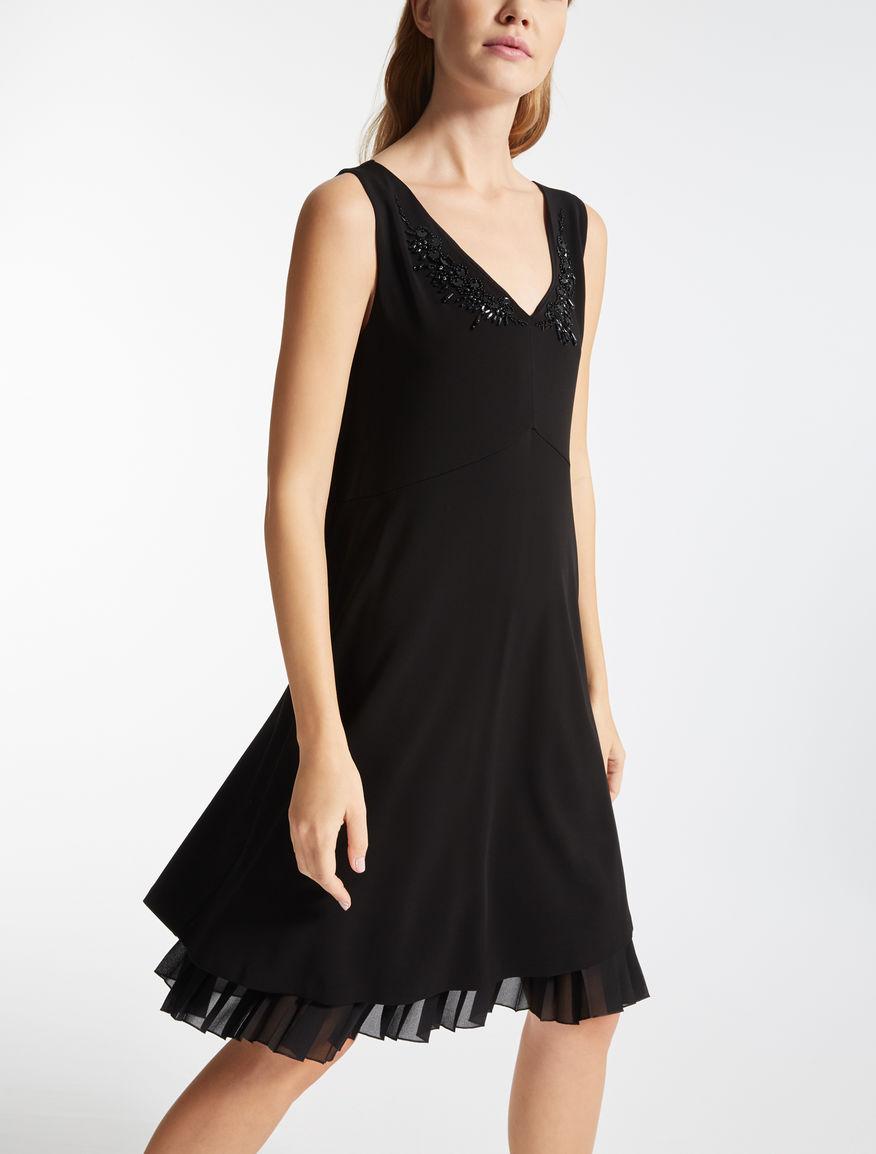 ビスコース ジャージースリーブレス ドレス