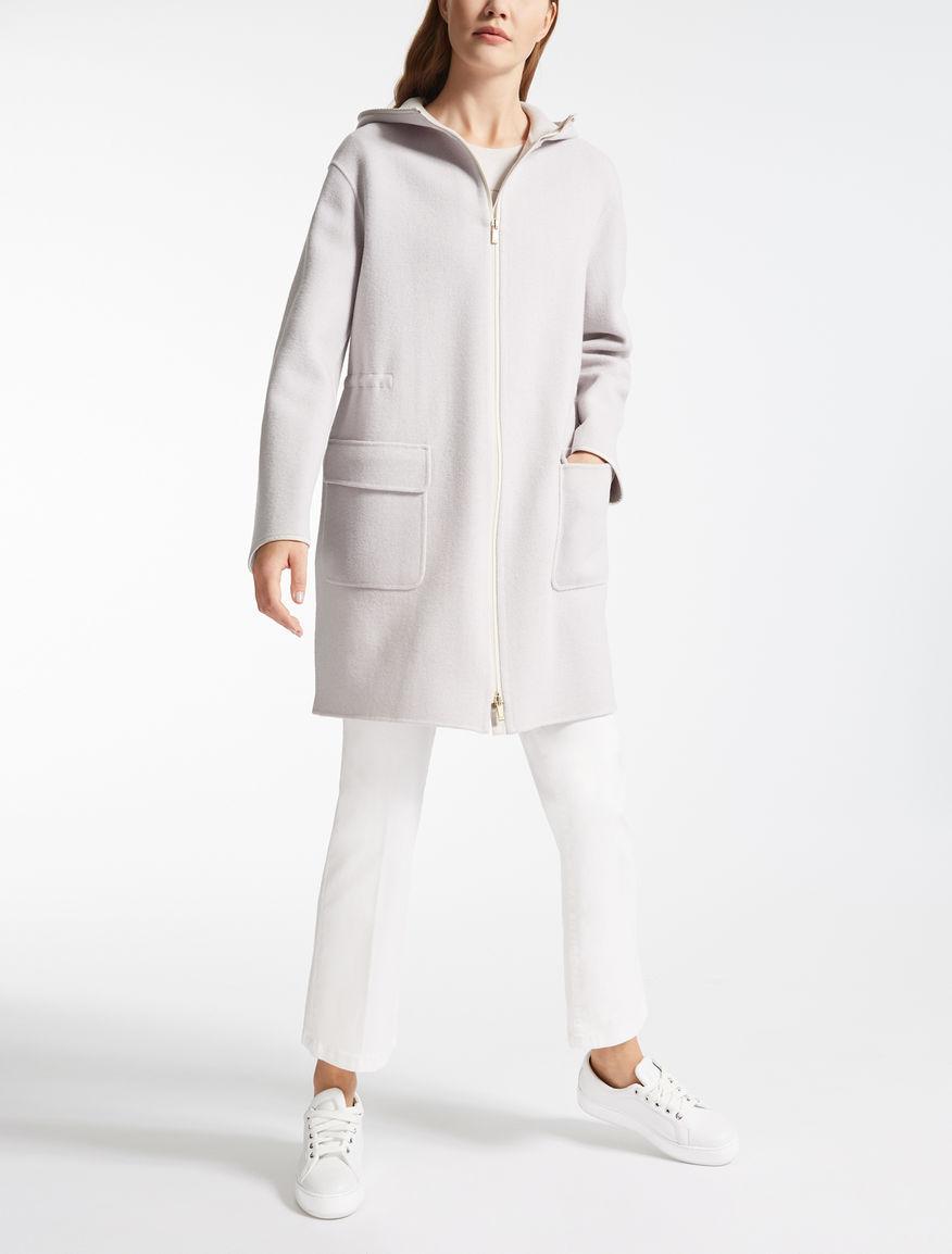 Wool jersey parka