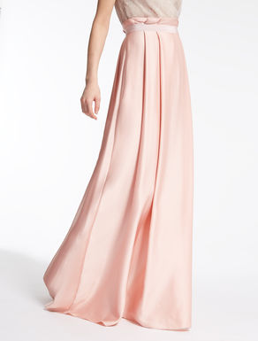 Satin crêpe skirt