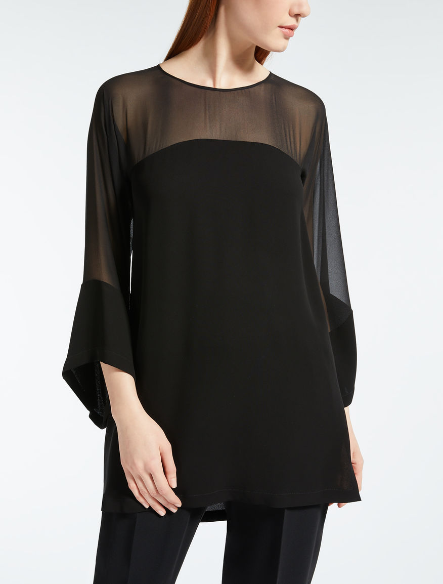 Viscose georgette tunic