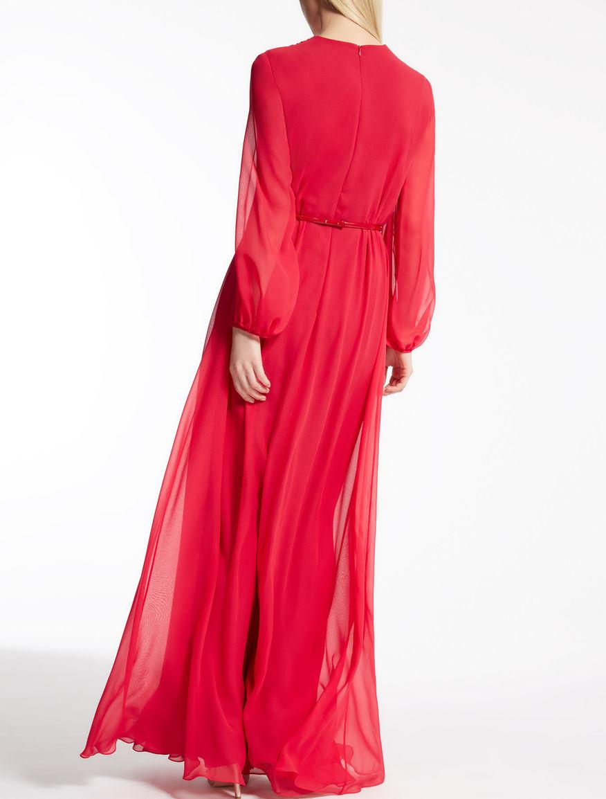 Outlet Purchase Max Mara long georgette dress Finishline Online tQrbvAq