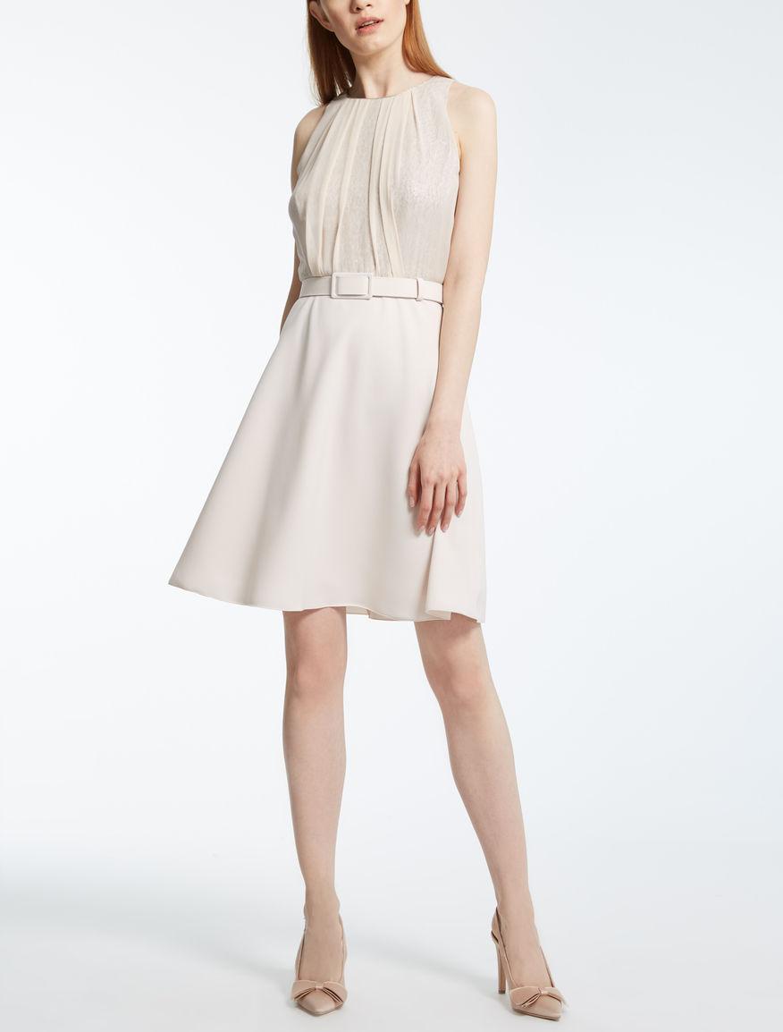 ジャカードバイマテリアル ドレス