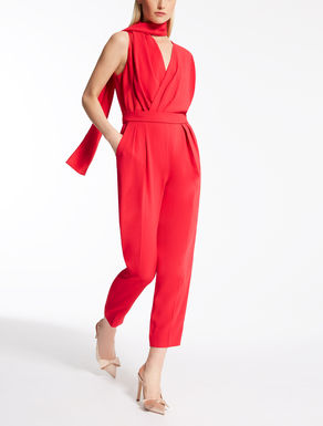 Crêpe satin envers jumpsuit