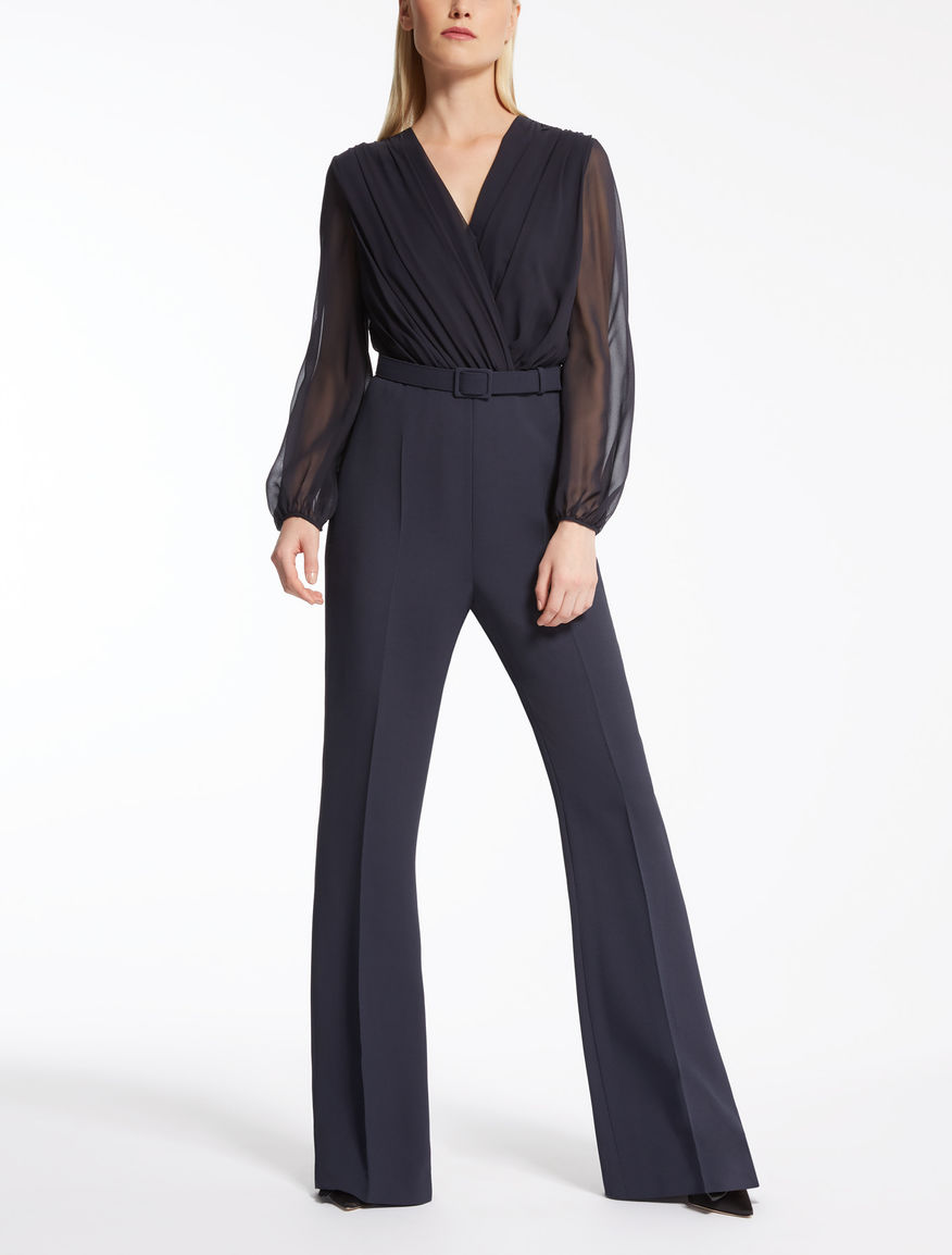 Silk georgette jumpsuit