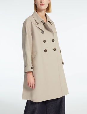 Cotton canvas trench coat