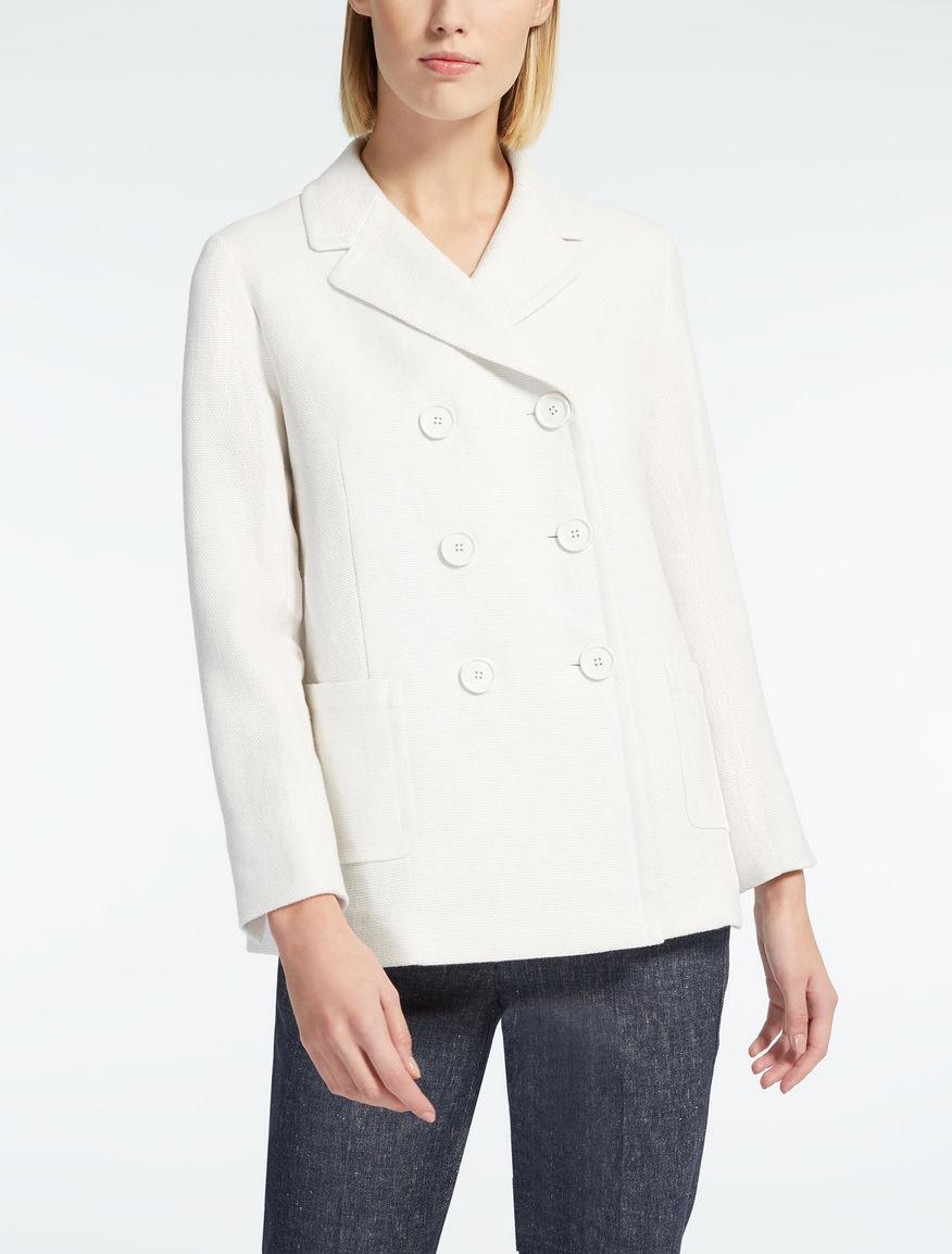 Linen basketweave blazer
