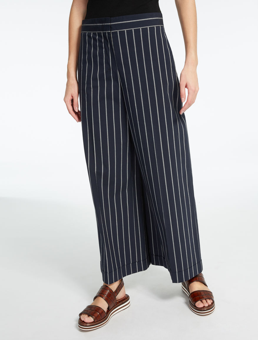 Cotton canvas trousers
