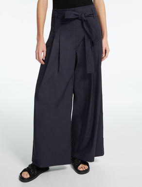 Pantaloni in popeline di cotone
