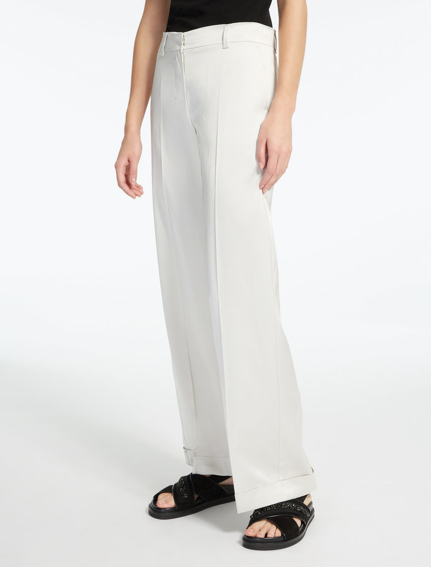 Pantalon en satin de viscose