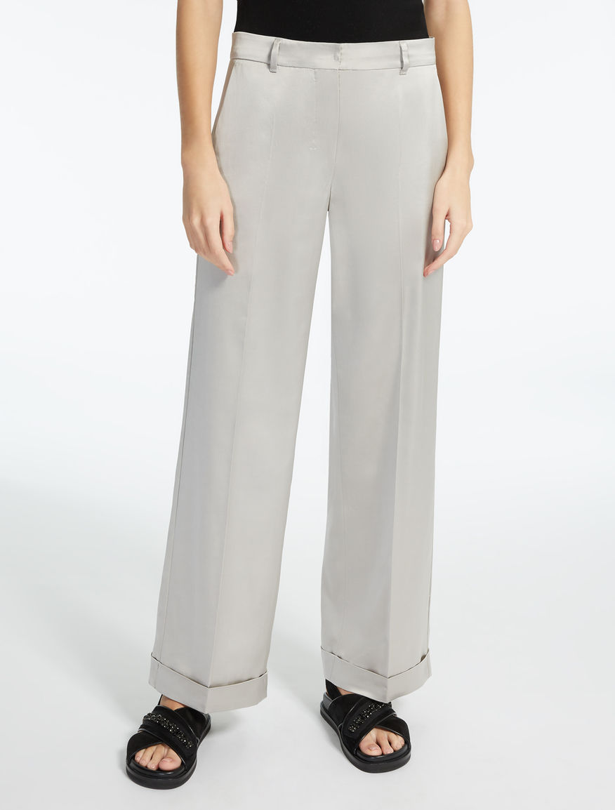 Viscose satin trousers