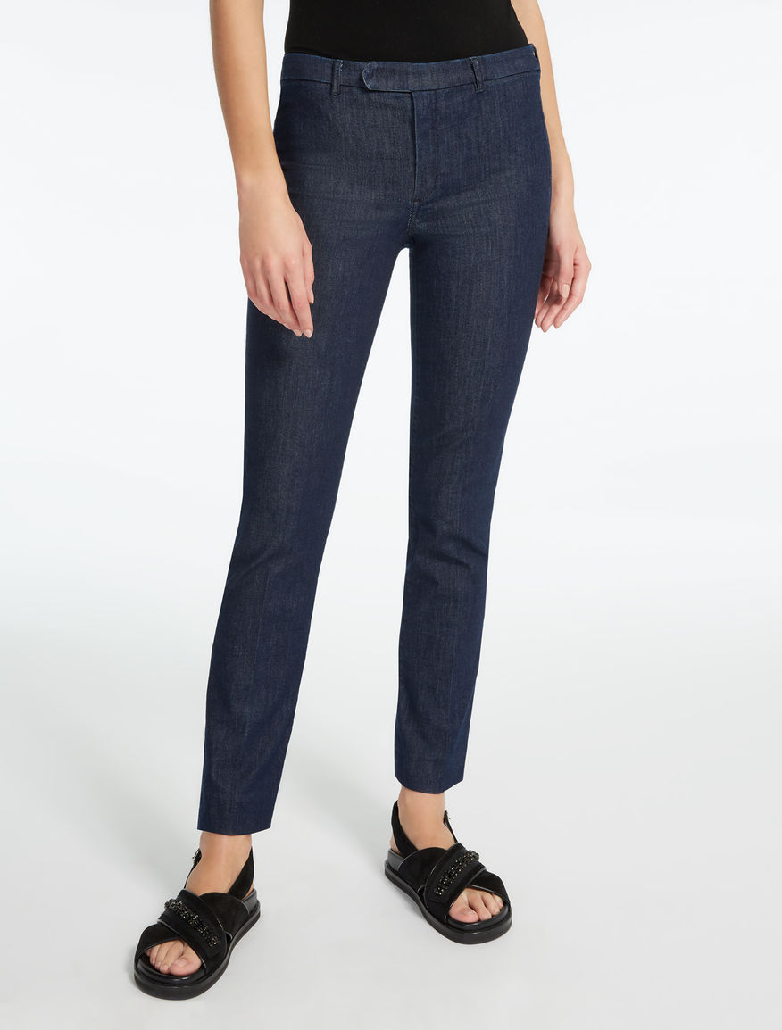 Pantalon en denim de coton