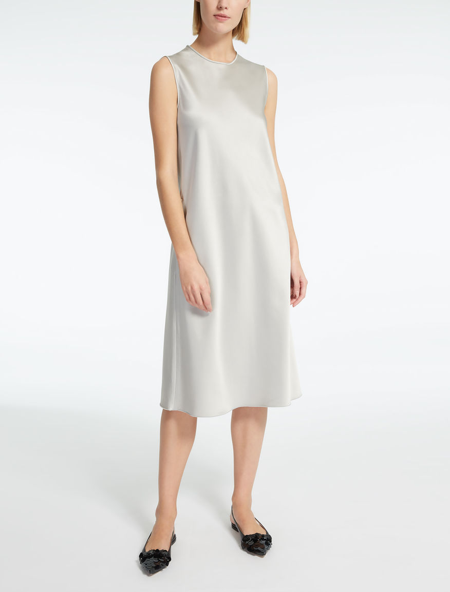 Viscose and cotton satin dress