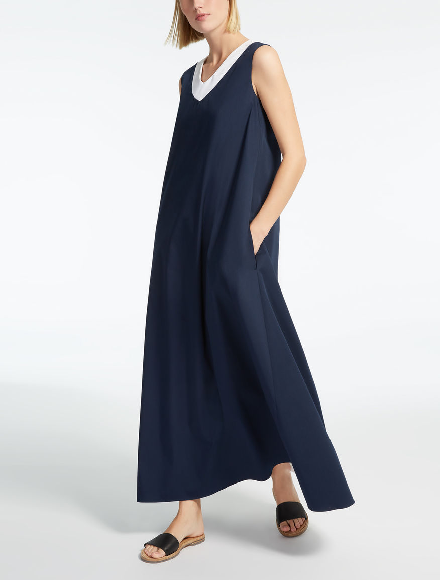 Cotton gabardine dress
