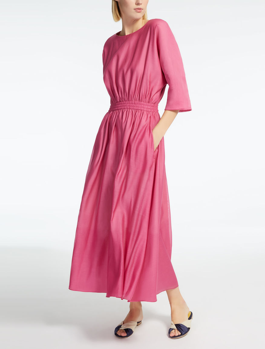 Silk and cotton voile dress