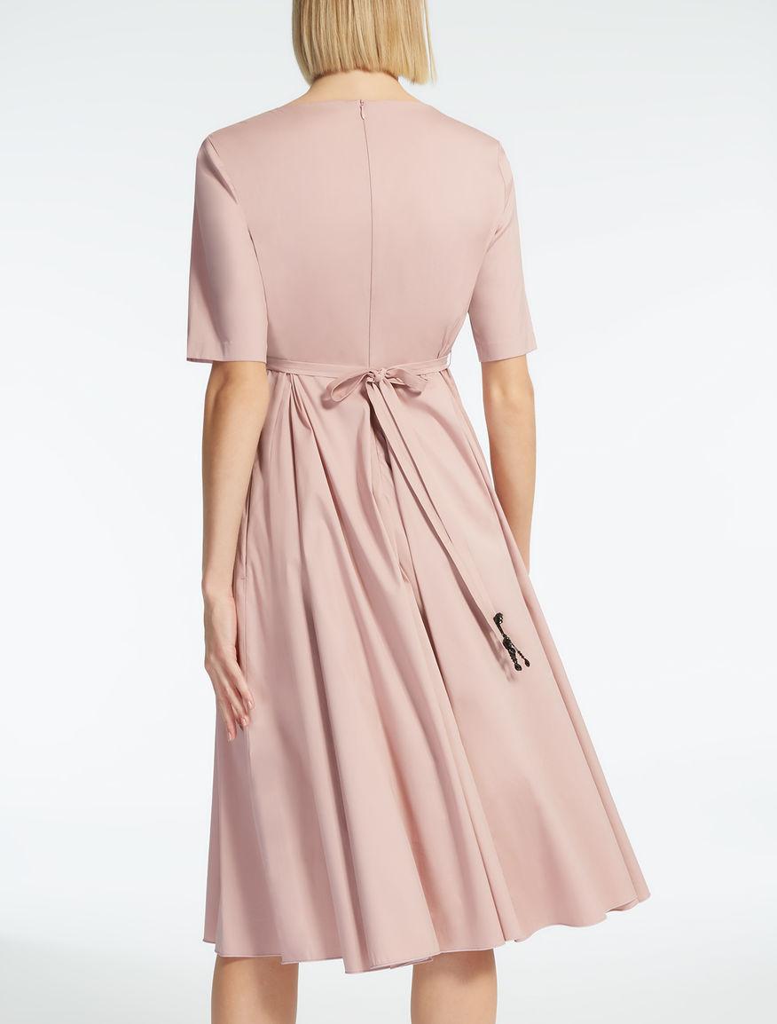 Vestido de popelina de algodón, rosa antiguo - \
