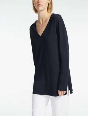 Viscose crêpe sweater