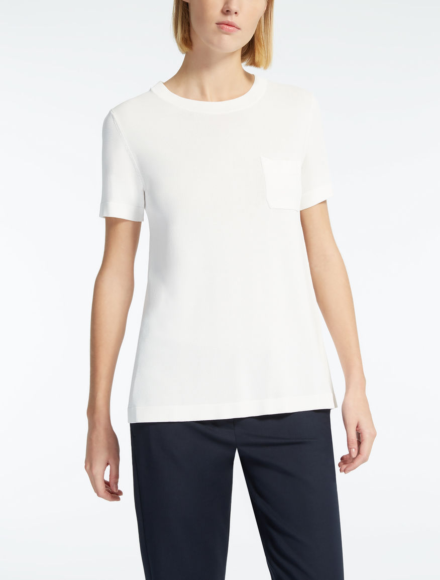 Viscose crêpe T-shirt