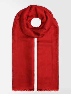 Linen and silk stole