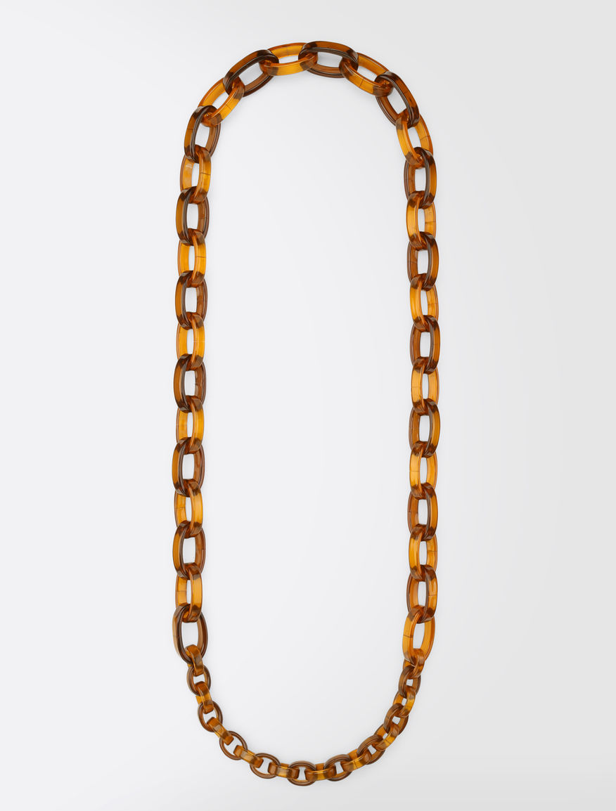Plexiglass chain necklace